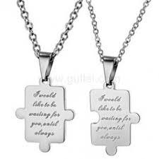 engrave a necklace matching couples pendants necklaces jewelry gifts sets for two