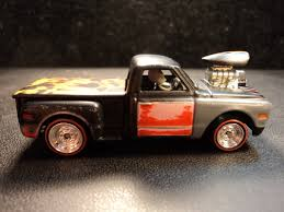 matchbox chevy silverado ss custom 69 chevy blown rat rod truck dads custom creations and