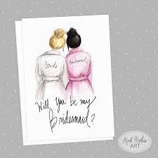 bridesmaids invitation cards bridesmaid pdf printable cards black bun
