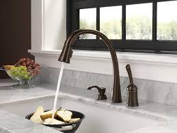 delta oil rubbed bronze kitchen faucet delta touchless kitchen faucet quantiply co