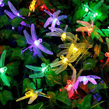 Solar String Lights Outdoor Patio Qedertek Dragonfly Solar String Lights Outdoor 20ft 30 Led