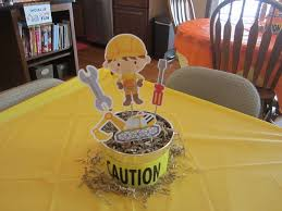 Construction Themed Centerpieces by 305 Best Baby Shower For A Boy Images On Pinterest Construction
