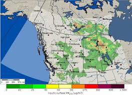 map of bc b c bluesky map shows canada s wildfire smoke forecast