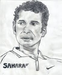 sachin tendulkar sketching by alence poudel at touchtalent
