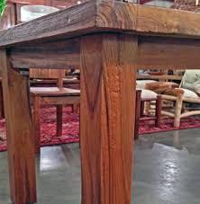 reclaimed teak dining room table teak dining table 3 foot x 4 foot with 4 legsimpact imports