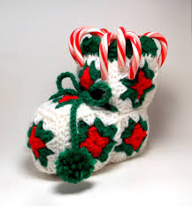 crocheted candy stocking my grandma used tomake these with a