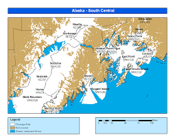 Nome Alaska Map by Alaska South Central