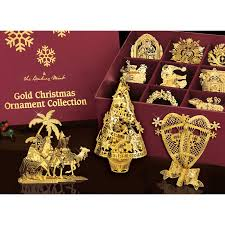 christmas ornament sets the 2015 gold christmas ornament collection the danbury mint