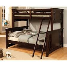 Amazoncom Dorel Living Brady Twin Over Full Solid Wood Kids - Espresso bunk bed