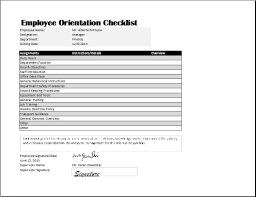 Orientation Template Word employee orientation checklist template word excel templates