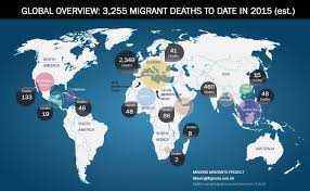 Migration Map Missing Migrants Project Global Map 17 August 2015