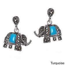 thailand earrings buy royal elephant and marcasite 925 silver earrings