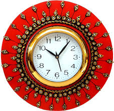 Wooden Wall Clock Divinecrafts Analog Wall Clock Price In India Buy Divinecrafts