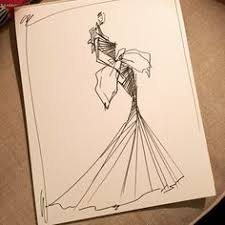 sketch by christian siriano a look from fall 2013 sketch of the