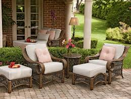 Landgrave Patio Furniture by Furniture Modern Woodard Patio Wicker Furniture Sets With White