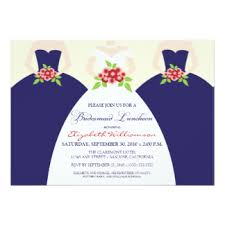 bridesmaids luncheon invitations bridal luncheon invitations announcements zazzle