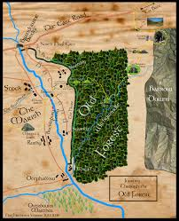 The Forest Map Map Of Frodo U0027s Journey Through The Old Forest From Lord Of The Rings