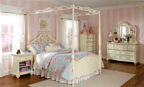Pink And White Striped Rug Bedroom Classic Bed Frame Nightlamp Nightstand Rug Wooden Floor