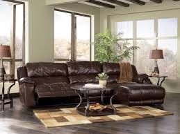 Black Leather Sofa With Cushions L Shaped Brown Fabric Sofa With Grey Pattern Cushions Added By