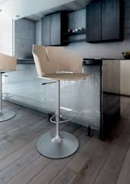 contemporary bar chair with armrests upholstered central