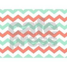 mint and coral chevron pattern 5 u0027x7 u0027area rug by printcreekstudio