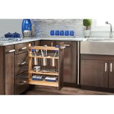 Kitchen Cabinet Organizers Home Depot by Rev A Shelf 5 62 In H X 14 In W X 22 5 In D Medium Wood Base