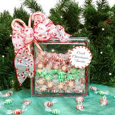 nicole crafts candy treats glass box christmas glassblock