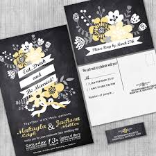 Invitation With Rsvp Card Chalkboard Wedding Invitations Eat Drink And Be Married