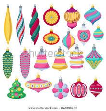 christmas decorations santa claus board stock vector 86808043