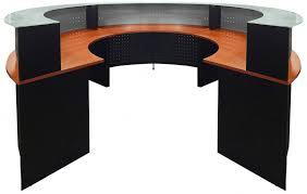 Revit Reception Desk Circular Glass Top Reception Desk With Regard To Attractive