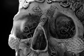 Celtic Skull - thoughts celtic skull photograph by leeann mclanegoetz