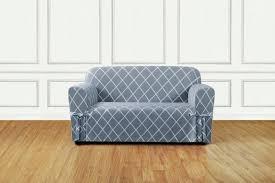 Slipcover For Pillow Back Sofa by Sure Fit Lattice Box Cushion Sofa Slipcover U0026 Reviews Wayfair