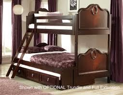 Cherry Bunk Bed Homelegance Lund Bunk Bed Rich Cherry B2002 1