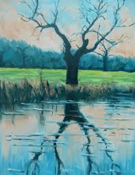 paint a riverside tree step by step with 5 oil colors youtube