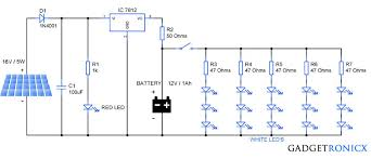 solar garden lights circuit diagram schematic design tutorial on