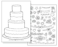 coloring pages of birthday cakes coloring page cake decorating