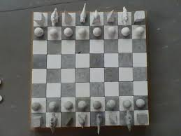 Chess Board Design Cement And Plaster Chess Board Cement Furniture House And Home
