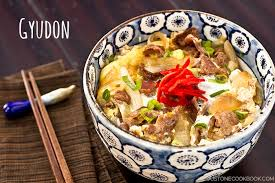 cuisine recipes easy gyudon japanese beef bowl 牛丼 just one cookbook