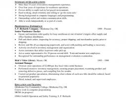 one page resume exle inventory clerk management resume exle waste manager