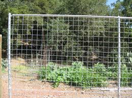 wire mesh with steel post will last and last by arbor fence inc