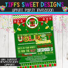 ugly sweater christmas party invitation holiday ugly sweater