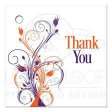 Wedding Gift Tags Wedding Favor Thank You Tag Blank Purple Orange White Floral