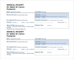 medical receipt template 19 free word excel pdf format