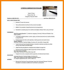 hybrid resume template word 9 combination resume template word letter adress