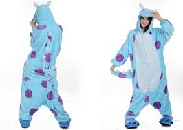Monster Halloween Costumes Aliexpress Buy Winter Warm Fleece Anime Monsters Sulley