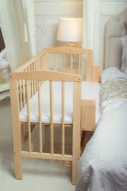 Baby Crib Next To Bed Baby Co Sleeper Crib Bedside Cot Bed Wooden White Mattress Next To