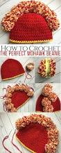 How To Make The Perfect How To Make The Perfect Crocheted Mohawk Beanie With Pom Poms