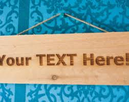 Personalized Wood Signs Home Decor Engraved Wood Sign Etsy