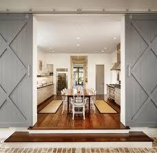 Barn Doors Houston Charlotte Double Barn Doors Dining Room Rustic With Steel Door