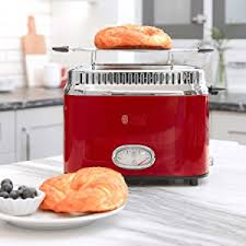 Stainless Toaster 2 Slice Amazon Com Russell Hobbs Tr9150rdr 2 Slice Toaster Red Kitchen